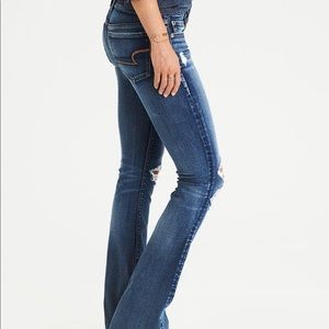 American Eagle Artist Flare Distressed Jeans 8